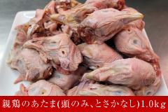 3位 親鶏のあたま(頭のみ、とさかなし) 1.0kg